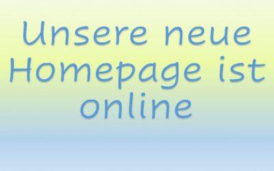 Unsere neue Homepage ist online! Update 14.4.´20! Schon registriert?